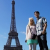 Josh and Lisa Infront of the Eiffel Tower