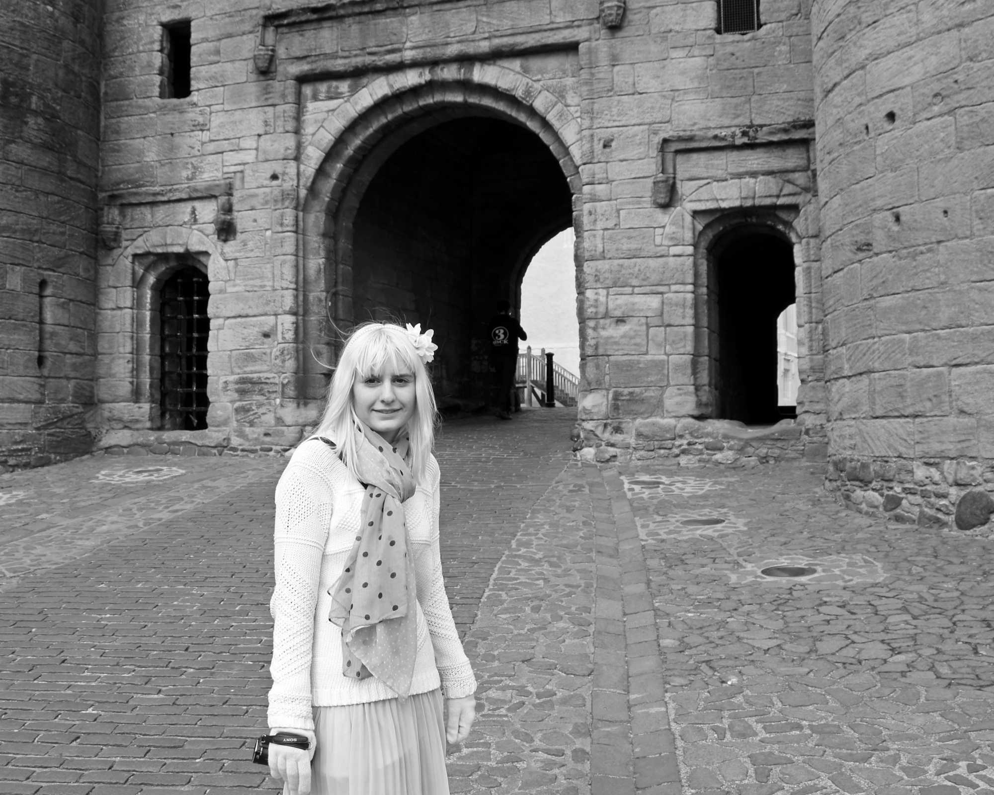 Lisa at Stirling Castle